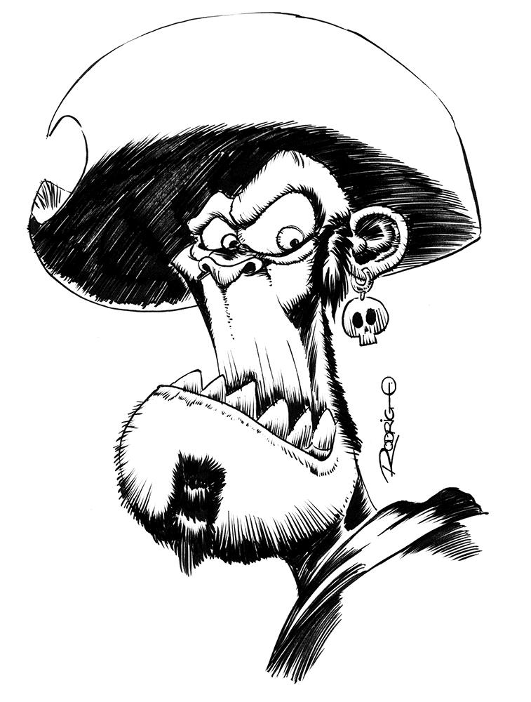 Pirate Angry by RodrigoDiazAravena