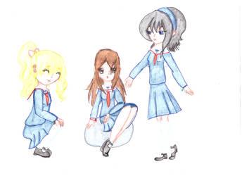 Lily, Hana and Rei