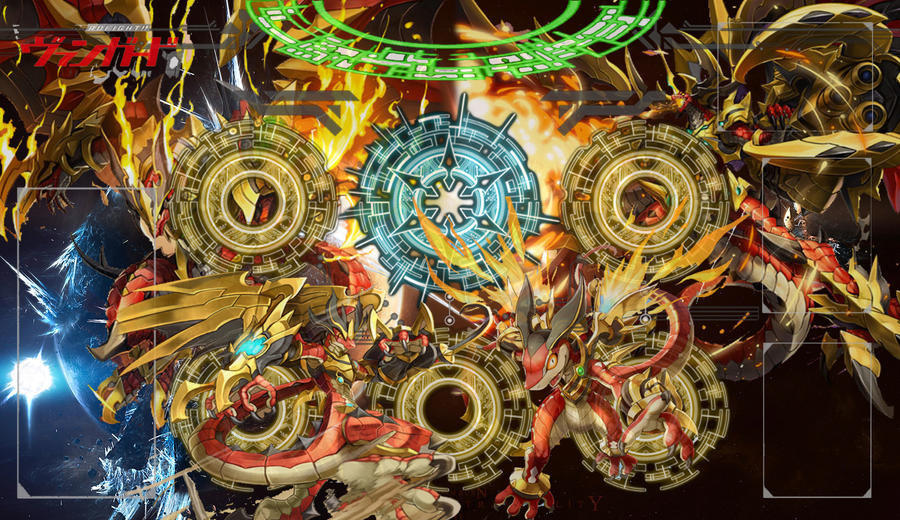 Cardfight!! Vanguard - Amber Dragon Mat by DragonTamer256