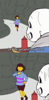 A KNIFE!! [Undertale] by elleap