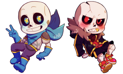 Red and Blue [Undertale] by elleap