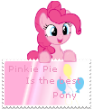 Pinkie Pie is the best pony stamp by tofuudog