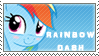 Rainbow Dash stamp cute vr by tofuudog