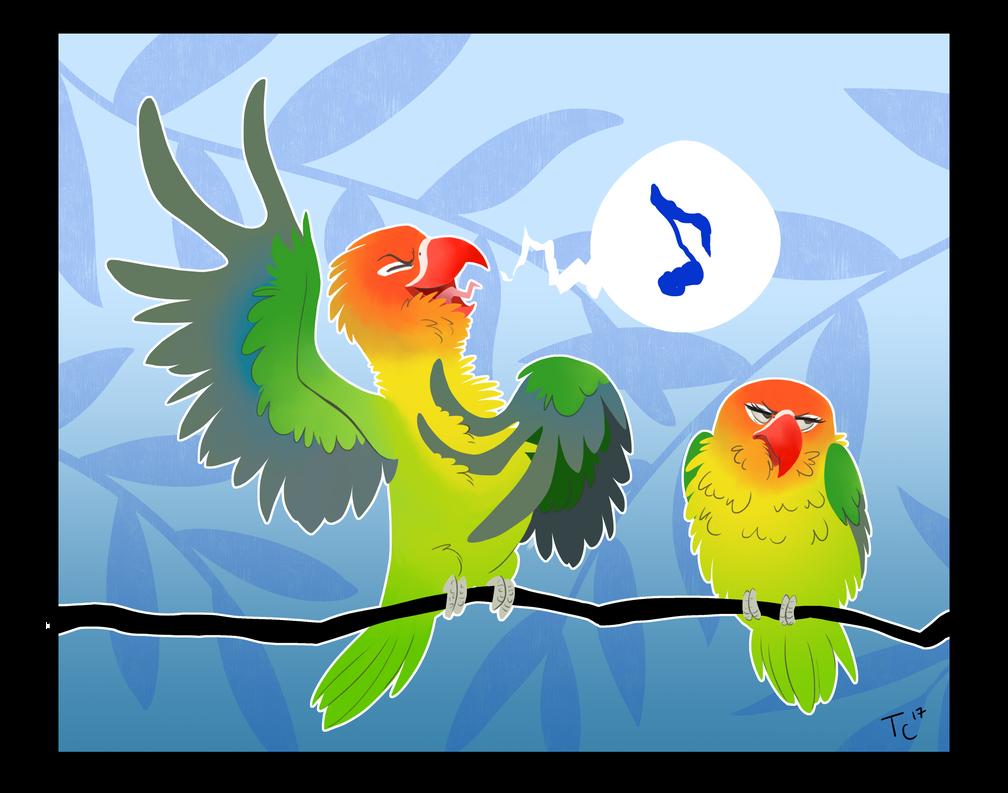 Lovebirds by Zaphy1415926