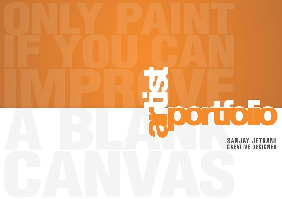 Portfolio Cover Page Design Ideas