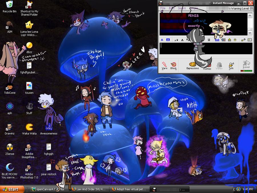 Mushroom desktop by Nire-chan