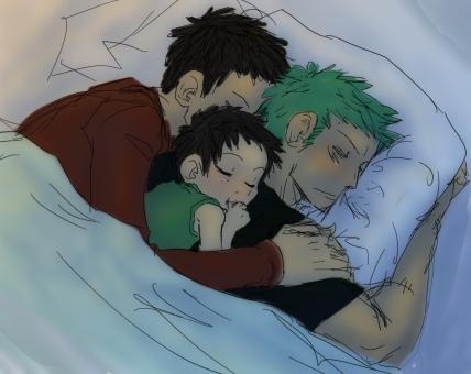 OP sleeps by Nire-chan