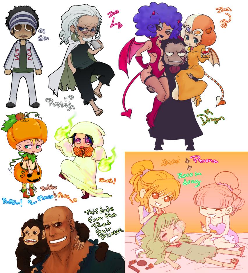 OP Random Chibis by Nire-chan