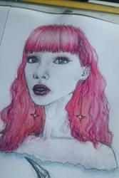 Princess Pink Hair  by lussinka