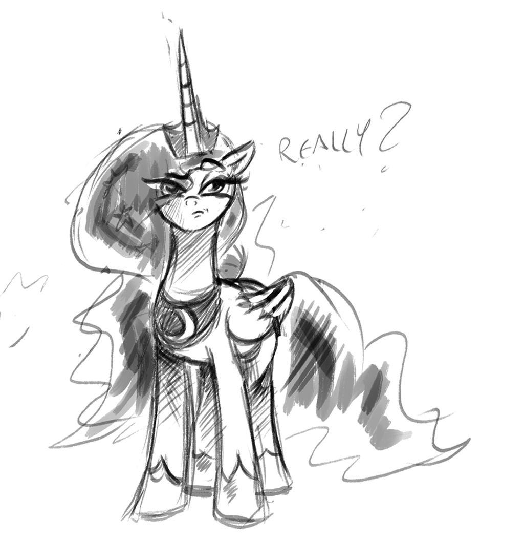 Luna is not impressed by saturdaymorningproj