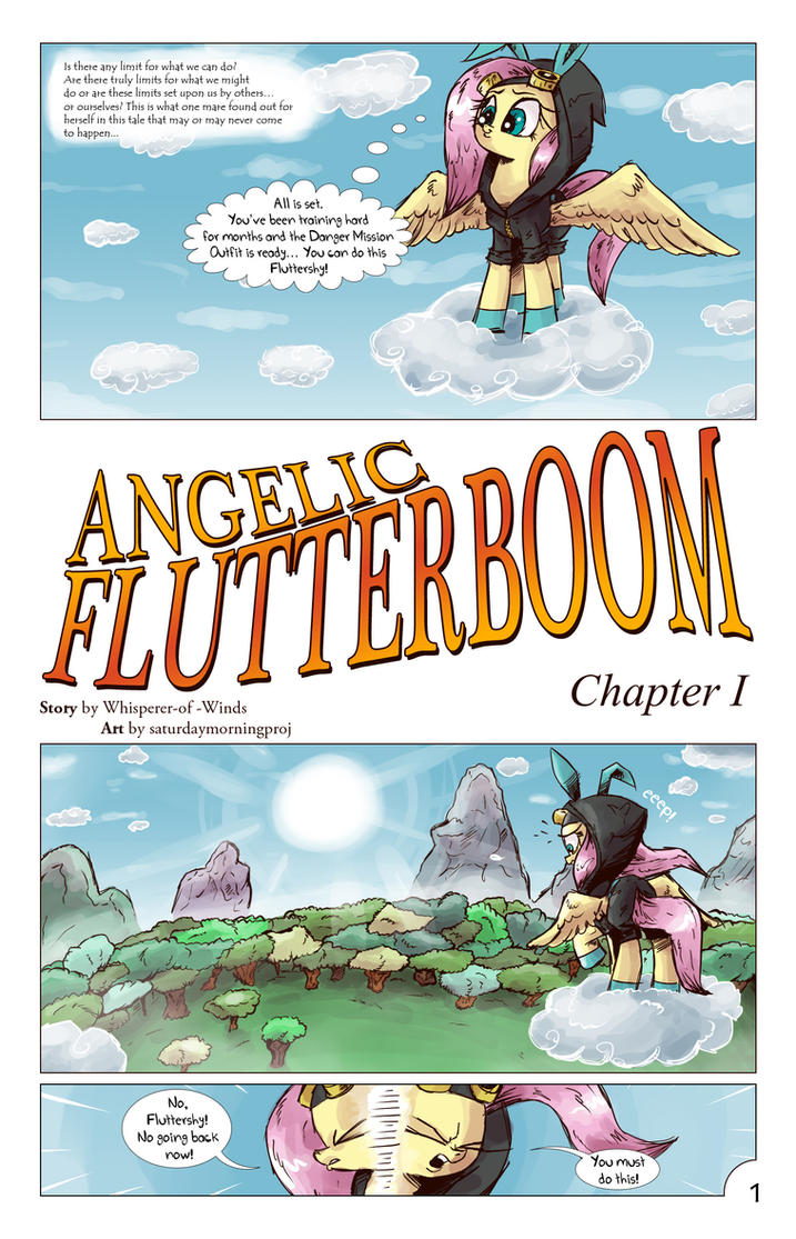 Angelic Flutterboom Chapter I page 01 by saturdaymorningproj