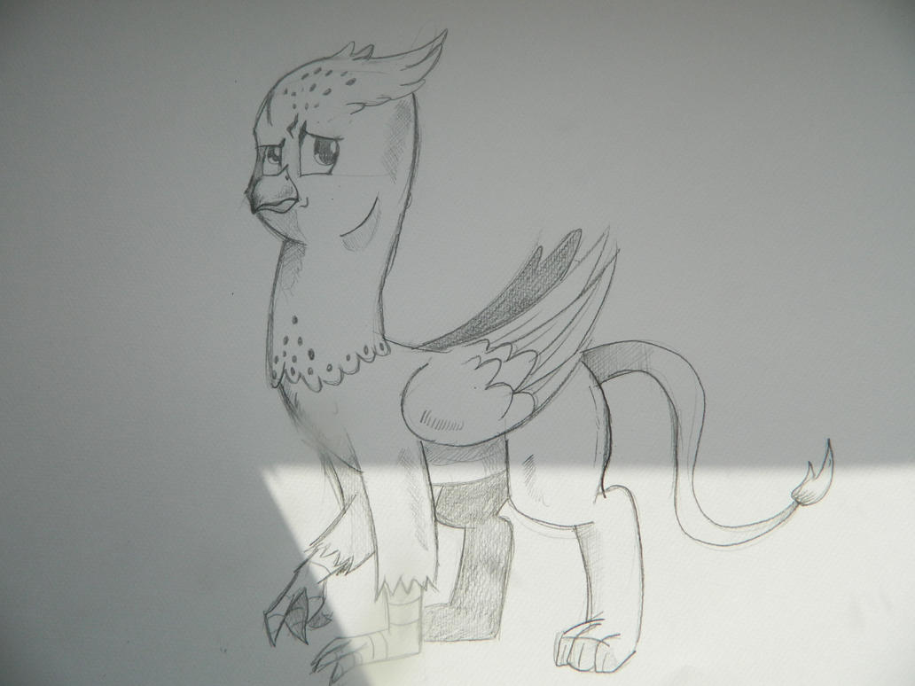 Griffon Sketch by saturdaymorningproj