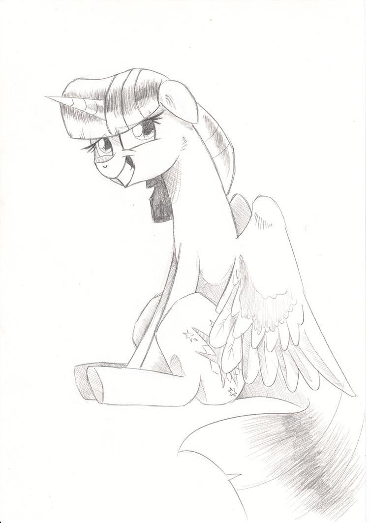 Bashful Bookhorse by saturdaymorningproj
