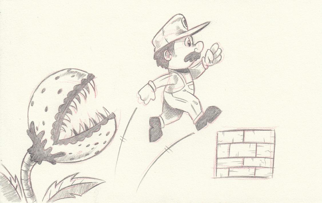 holiday sketch: Supah Mario by saturdaymorningproj