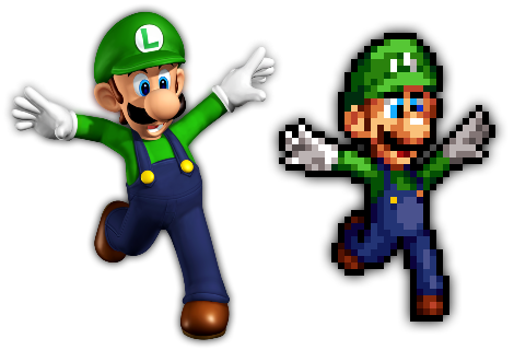Super Mario 64 Ds Luigi Render Sprite By Helljumper52 On Deviantart