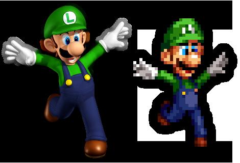 Super Mario 64 Ds Luigi Render Sprite By Helljumper52 On