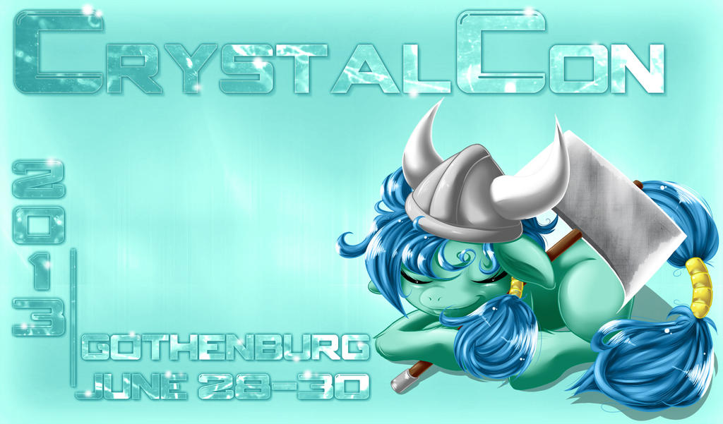 Banner for CrystalCon. by KnifeH