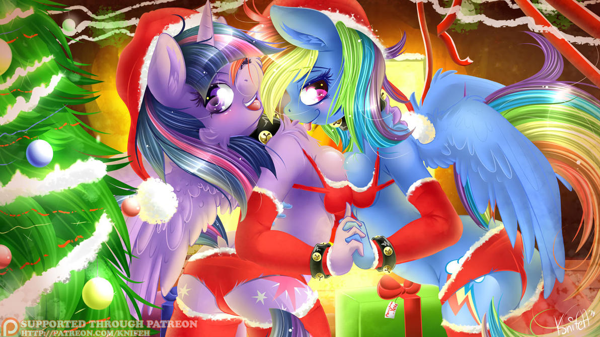 Twilight Sparkle and Rainbow Dash's christmas. by KnifeH on DeviantArt