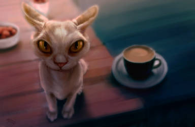 Demon on the table by MarkotnePierniki