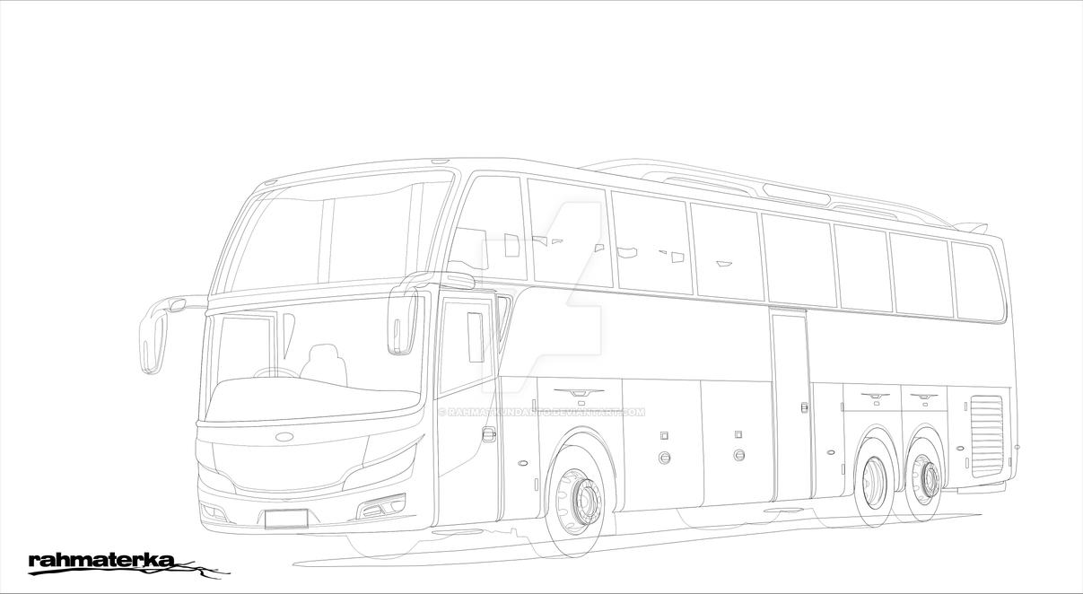 Gambar Bus Shd Di Buku Gambar