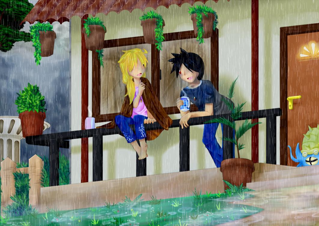 Rain by chococustard
