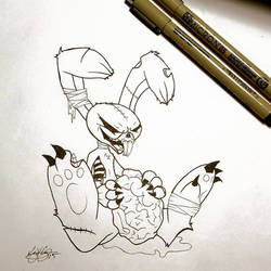 Zombie Bunny by vgdesigns