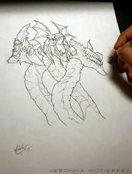 Diablo 3 Wizard's Arcane Hydra by vgdesigns