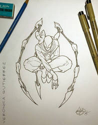Iron Spiderman by vgdesigns