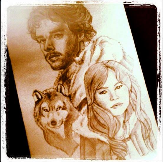 Robb Stark and Jeyne Westerling by Valk-Abarai
