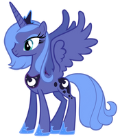 Princess Luna Vector by MisterLolrus