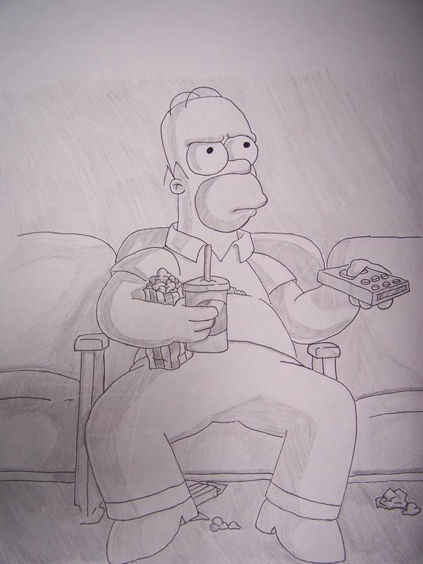 Homer at the movies by darthlocke13