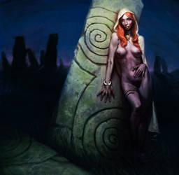 Keltic priestess by mcf