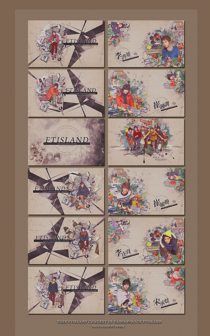 TAKE FTISLAND CONCERT IN TAIWAN NAME CARDS SET by YUWEI2304