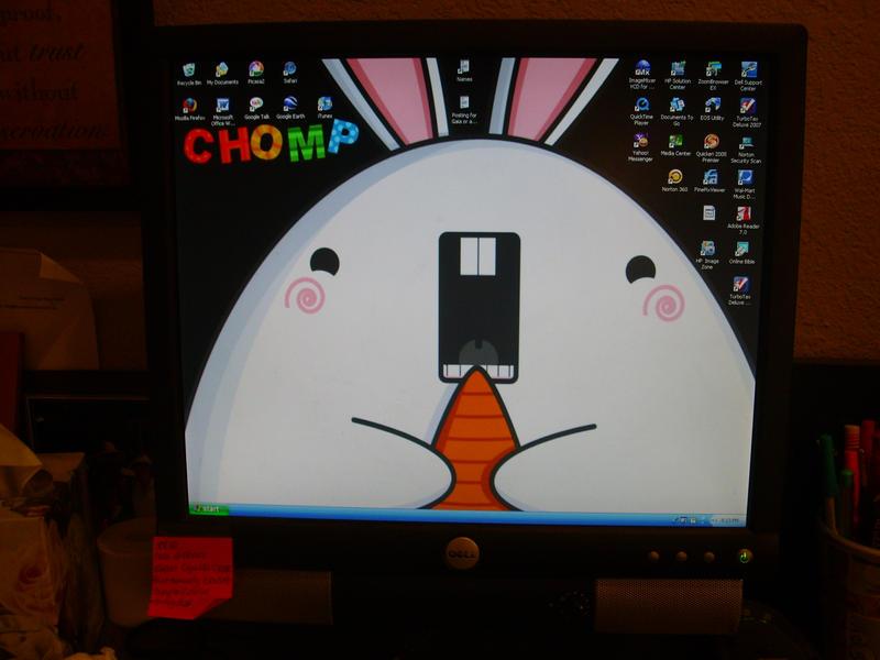 My current desktop by Usagi-Talez