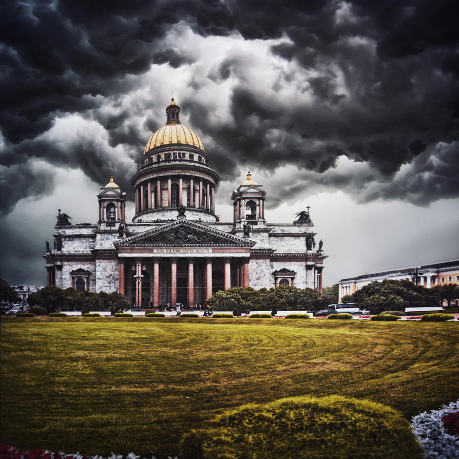 Clouds are gathering over the city by Tori-Tolkacheva