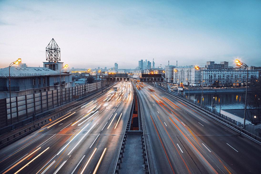 Moscow traffic by Tori-Tolkacheva