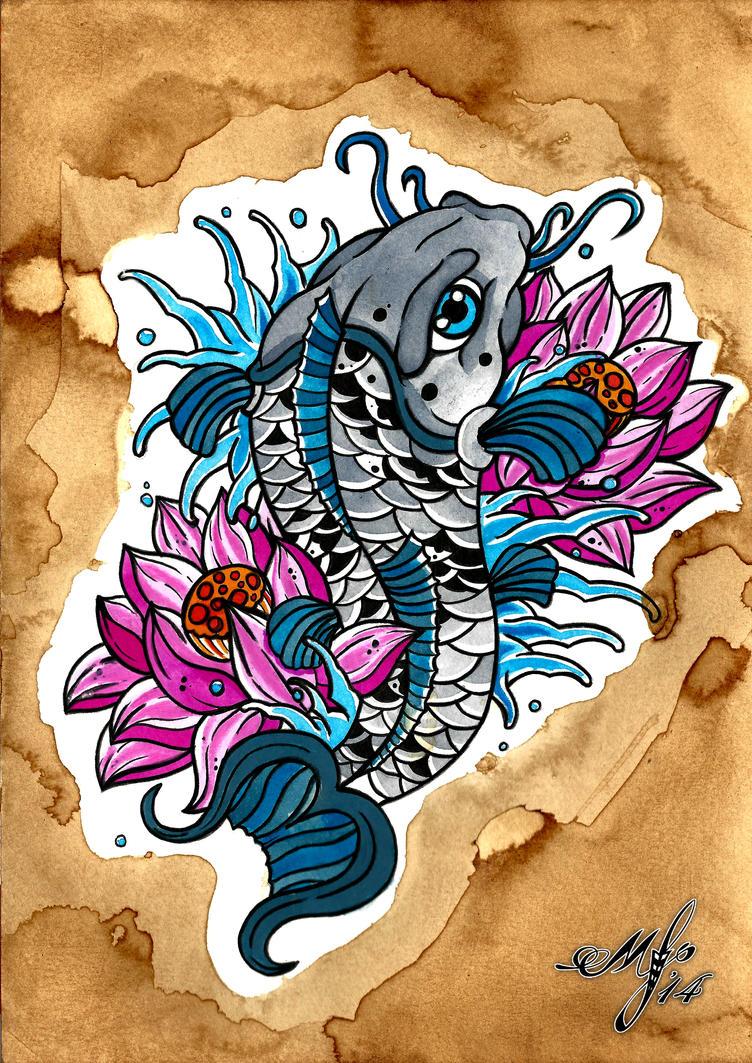Koi fish and lotus flowers by mattyfalconerart on deviantart koi fish and lotus flowers by mattyfalconerart izmirmasajfo