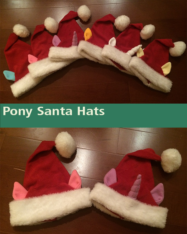 Pony Santa Hats by Mattings