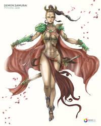 Princess Jade - DEMON SMAURAI by DanielRGB