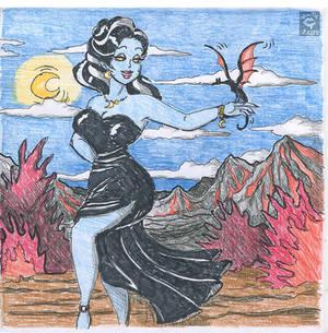 Vixen with lil dragon