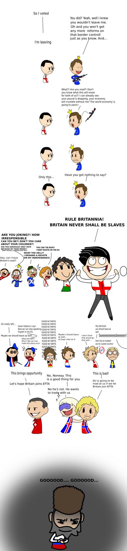 Brexit SATW fan-comic by NorwaySwedenDenmark