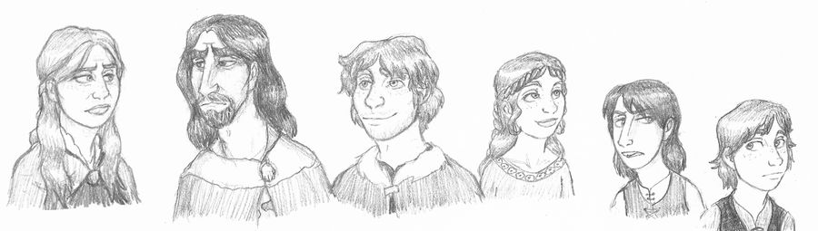 A Game of Thrones Sketch Sheet I: Here Be Starks