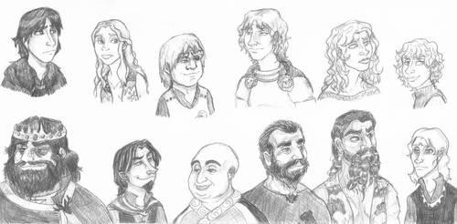 A Game of Thrones Sketch Sheet II: Everyone Else