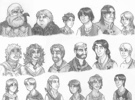 A Clash of Kings Sketch Sheet