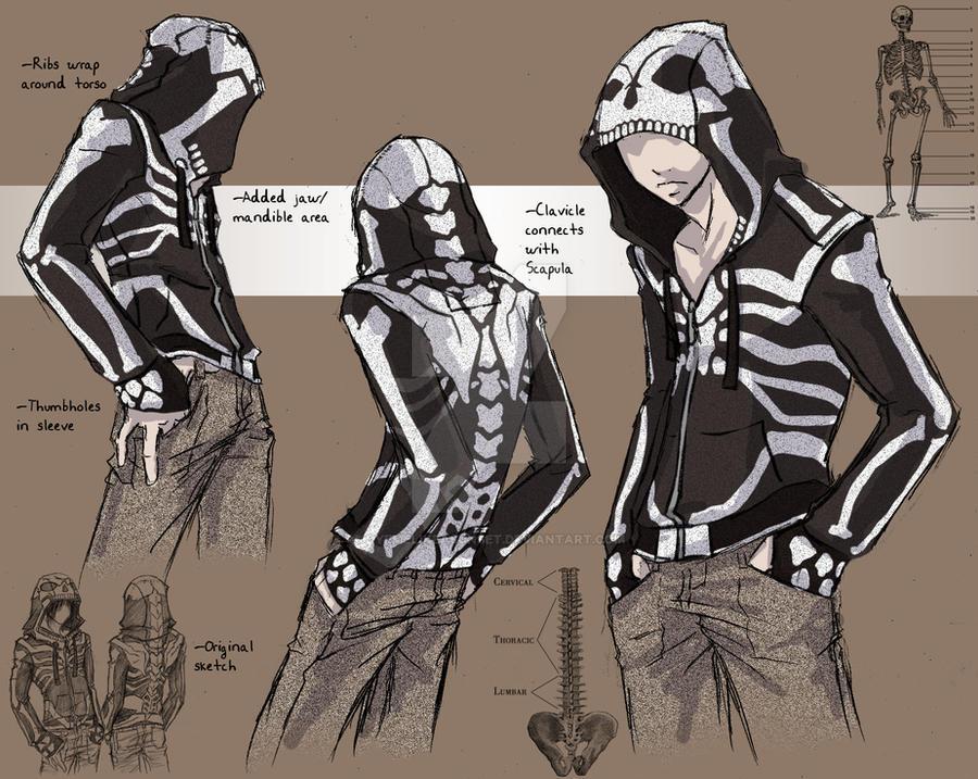 Skeleton Hoodie by Tyshea
