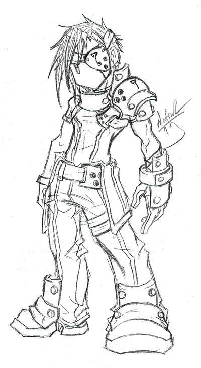 Cyber dude...chibi..thing by Tyshea