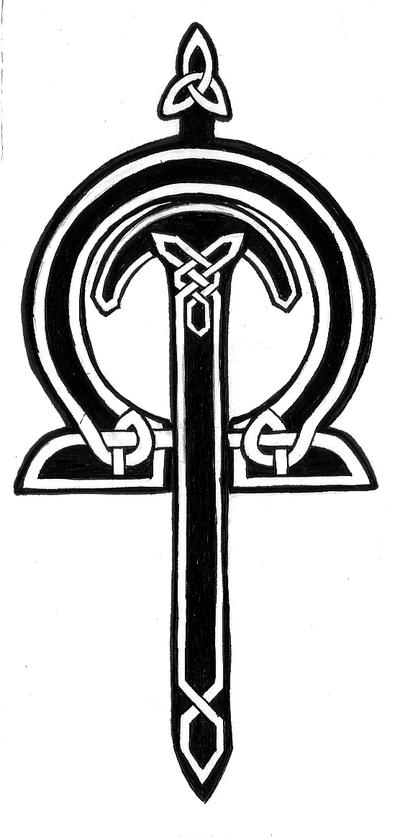 celtic cross tattoo, back of the neck. *celtic cross on back of the neck*