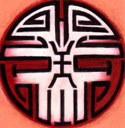 Chinese Skull Tattoo by Dyemelikeasunset