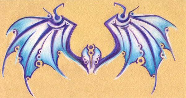 Bat Wing Tattoo by Dyemelikeasunset