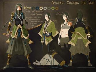 AtLA OC -Kye- by Dyemelikeasunset